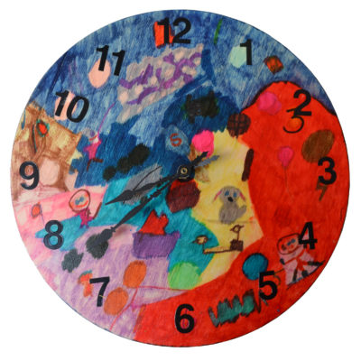 Wall clock by Heather Osborn