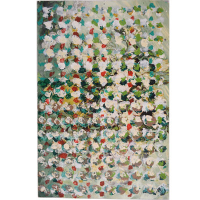 Untitled (white and green) by Hugh Cameron