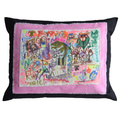 Abstract pillow by JB Finnerty