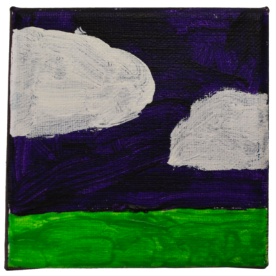 Untitled tiny landscape with clouds by Jamilah Monroe