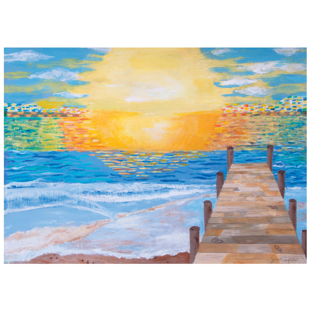 Sunset card or pack by Jane Tarlow