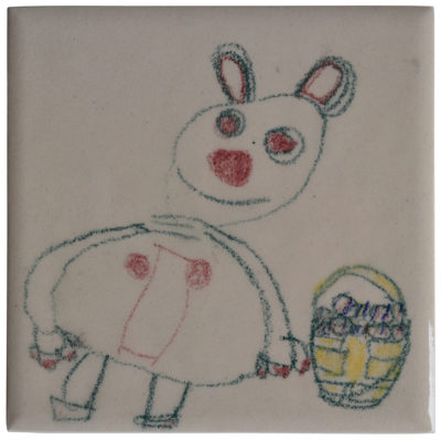 Easter bunny tile by Janet Inman