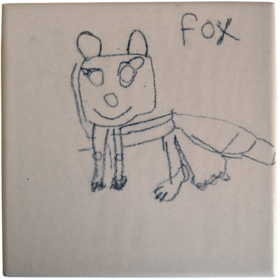 Fox tile by Janet Inman