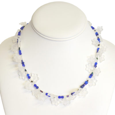 Frosted flowers necklace by Jeffrey Wales