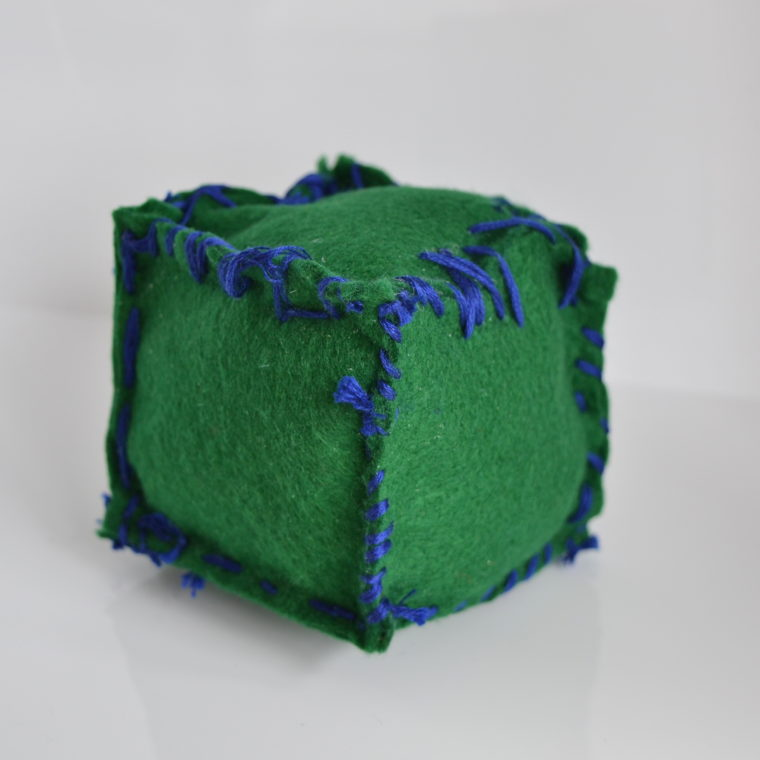 Green cube by Jeffrey Wales