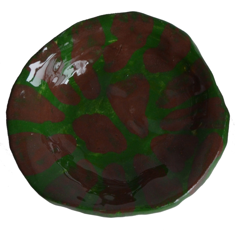 Green and brown dish by Johann LeRoux