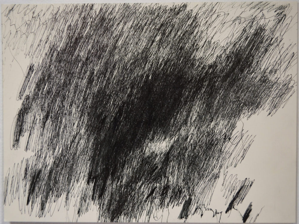 Untitled black and white drawing by John Colby