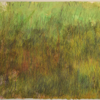Untitled (green) drawing by John Colby