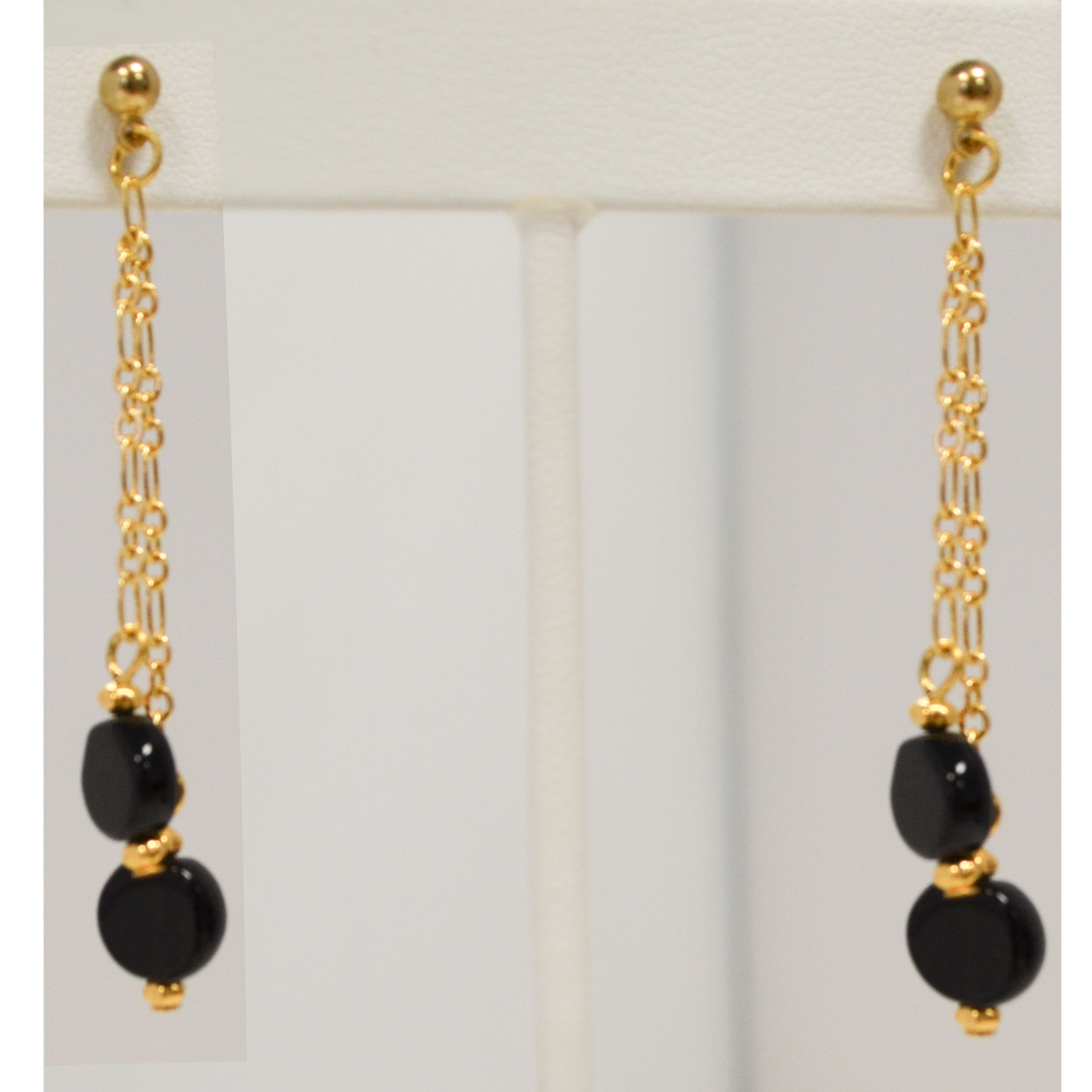 Black circle earrings by Judy Phillips