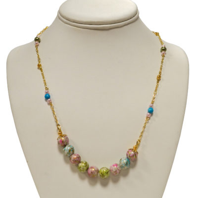 Cotton candy necklace by Judy Phillips