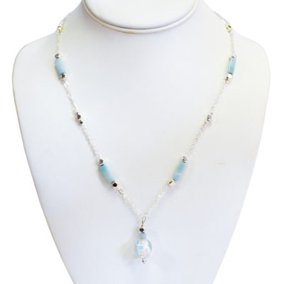Delicate flower necklace by Judy Phillips