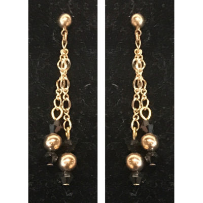 earrings black and gold by Judy Phillips