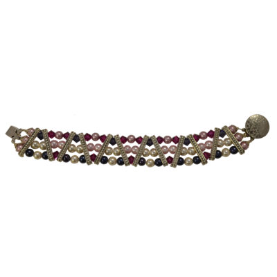 Pink and purple bracelet by Judy Phillips