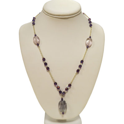 Purple necklace by Judy Phillips