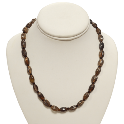 Subtle metallic sheen necklace by Judy Phillips