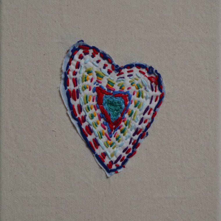 Heart embroidery by Justin Tuffo