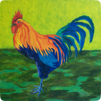 Rooster coaster by Kathleen Wells