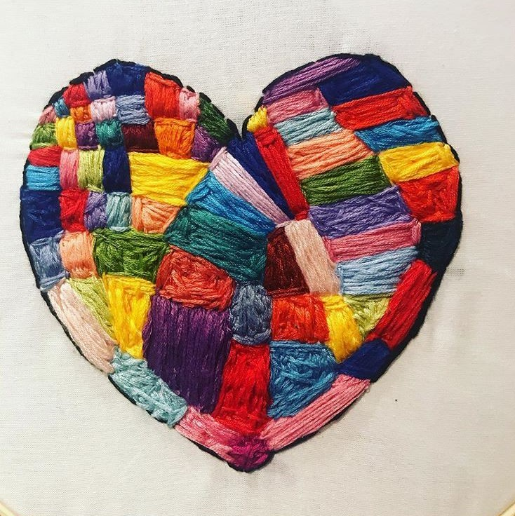 Heart embroidery by Kayla Snover