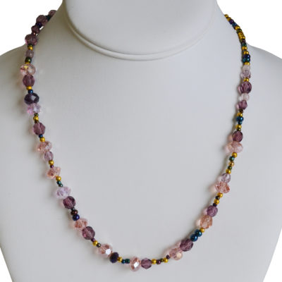 Purple necklace by Kayla Snover