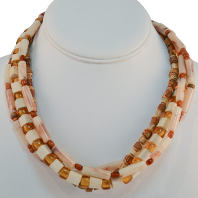 Four-strand necklace by Kristina Barney