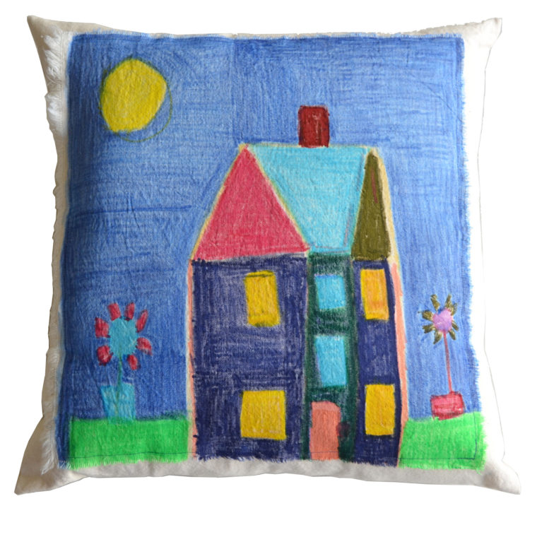 House pillow by Kristina Barney