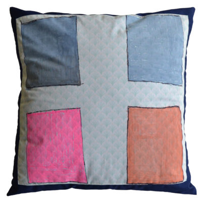 Abstract pillow by Kristina Barney
