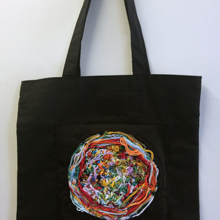 Leah Dunn. Embroidered tote. 2019.