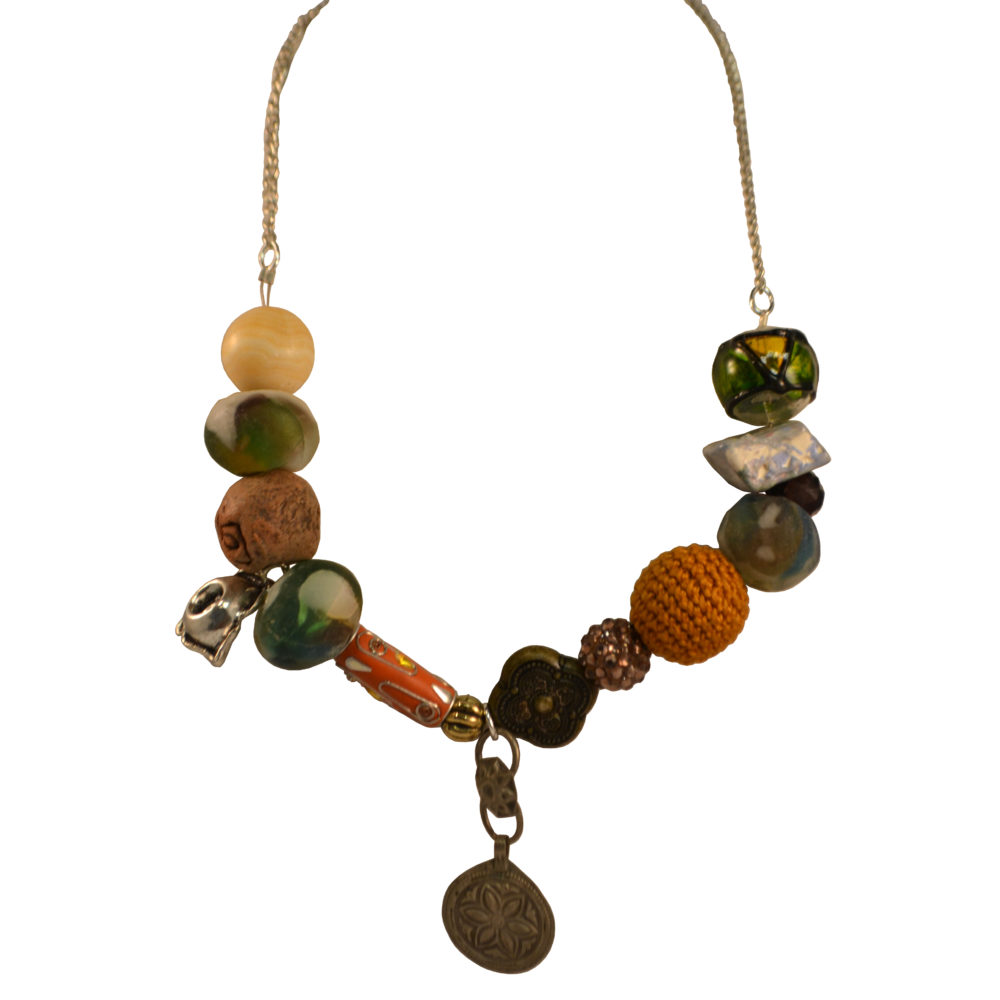 Beads and charms necklace by LES