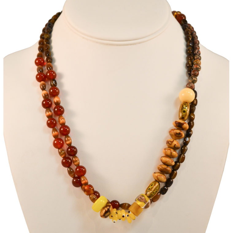 Double-strand necklace by Margery Richardson