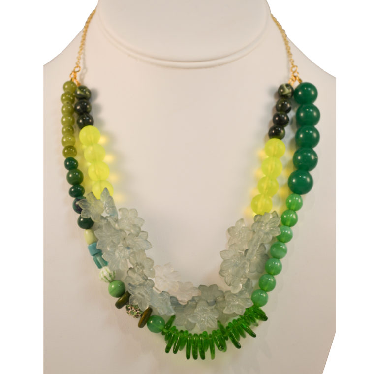Green necklace by Margery Richardson
