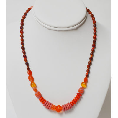 Orange necklace by Margery Richardson
