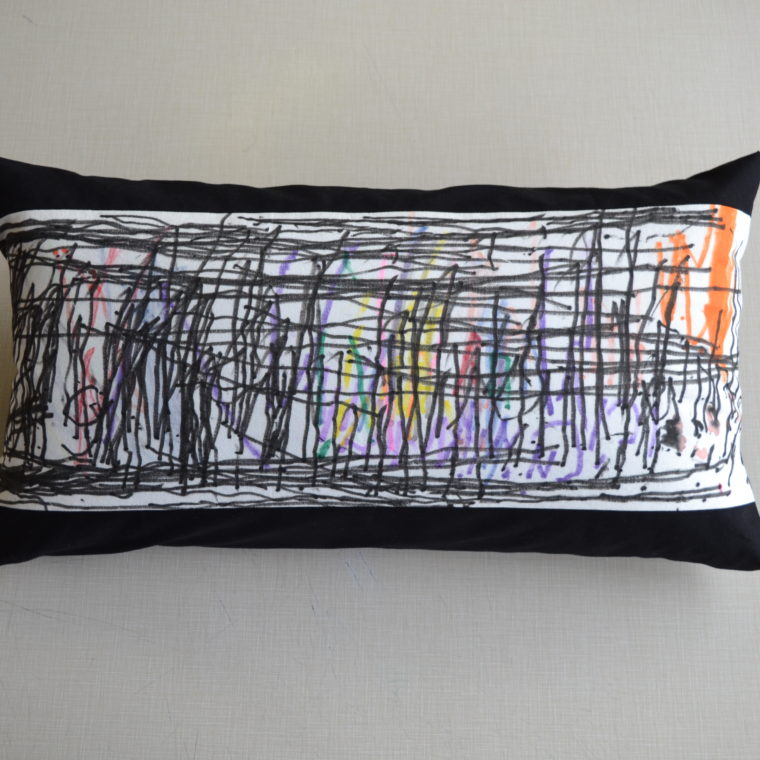 Abstract long pillow by Maria Field