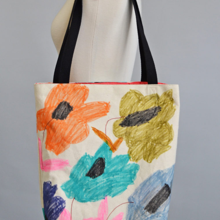 Flower tote bag by Maria Fulchino