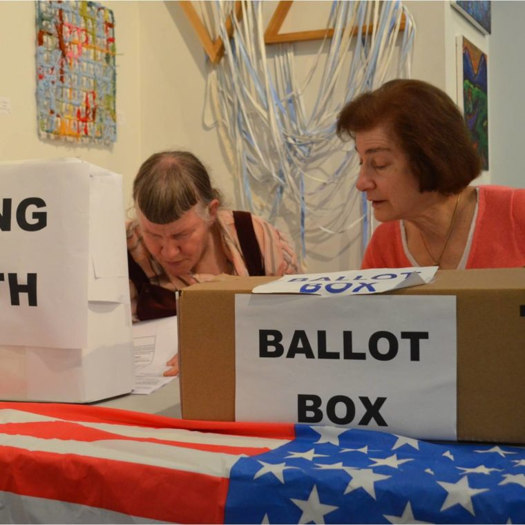 Mock election in the Education and Media studio