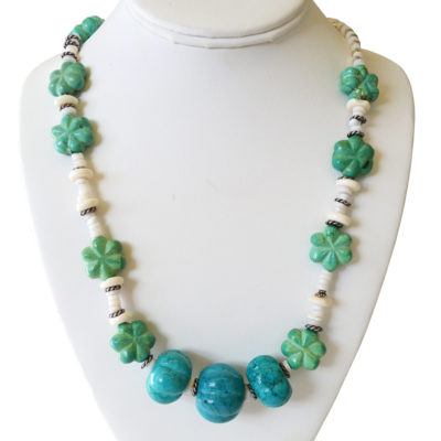 Turquoise necklace by Matthew Treggiari