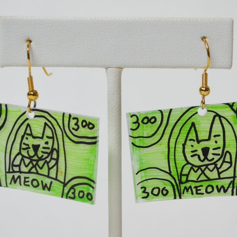 Money Earrings by Matthew Treggiari