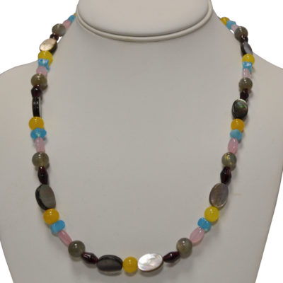 Mother of pearl necklace by Melissa Berman