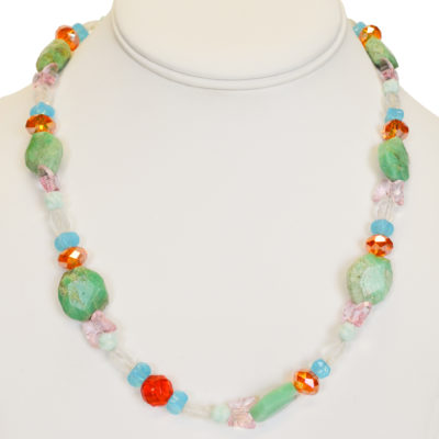 Turquoise glow necklace by Melissa Berman