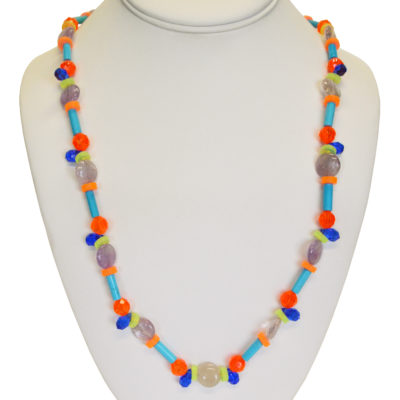 Bright teardrops necklace by Melissa Berman