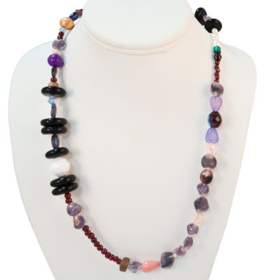 Purple accent necklace by Meridith Goldman