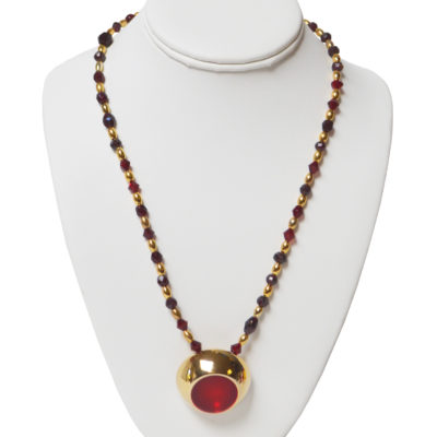 Laser red pendant necklace by Michael Natale