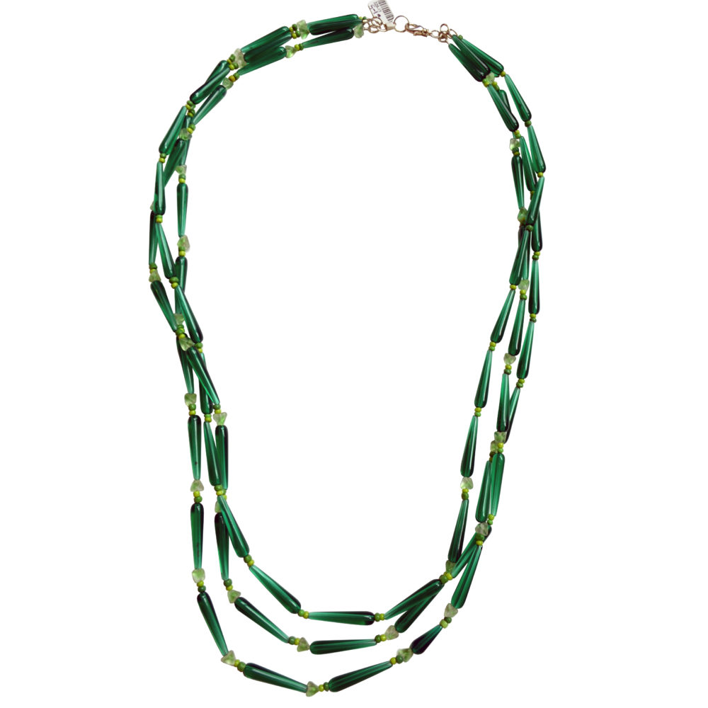 Green necklace by Mimi Clark