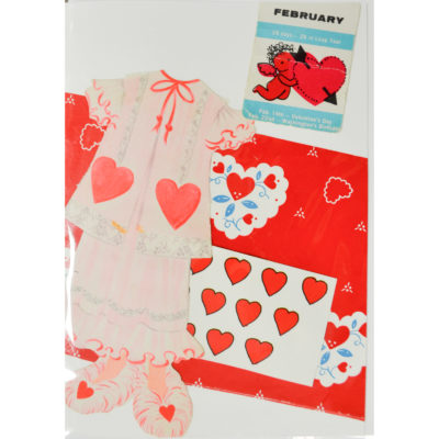 Valentine collage with nightgown by Molly Piper
