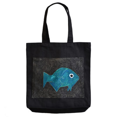 Fish tote bag by Neri Avraham