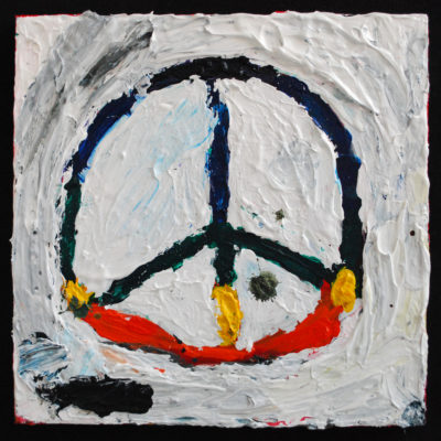Peace sign painting by Neri Avraham
