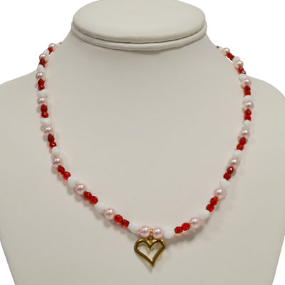 Heart necklace by Nina Aronson