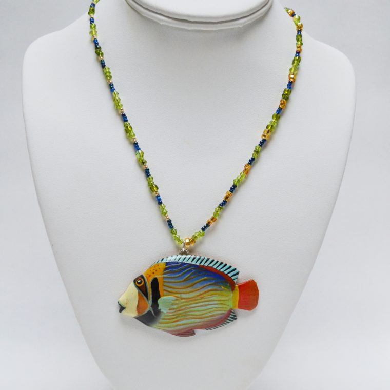 Fish necklace by Nina Aronson