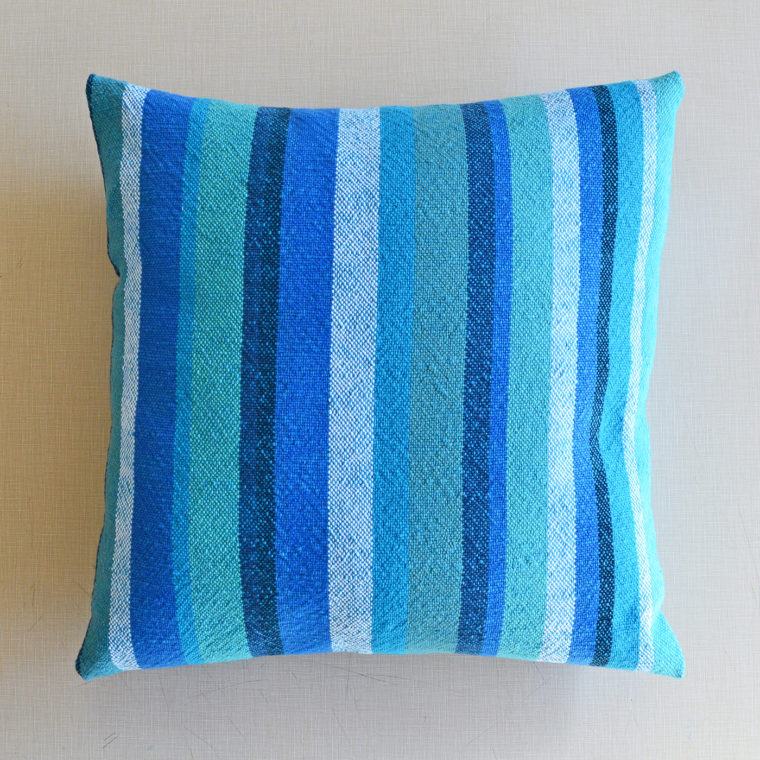 Woven pillow by Ona Stewart