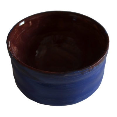Brown and blue bowl by Ona Stewart