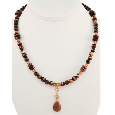Pearl drop necklace by Ona Stewart